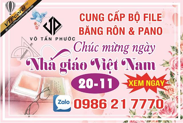 Cung cấp phông nền Nhà giáo Việt Nam 2011 - CDR12 Tách lớp