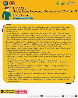 Press Release COVID-19 Tarakan 24 April 2020 - Tarakan Info