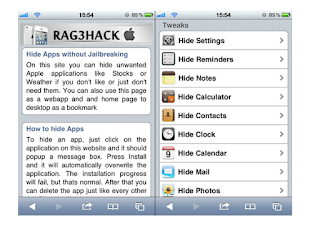 Hide Apps no Jailbreak