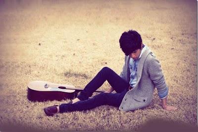 sad alone boy photo
