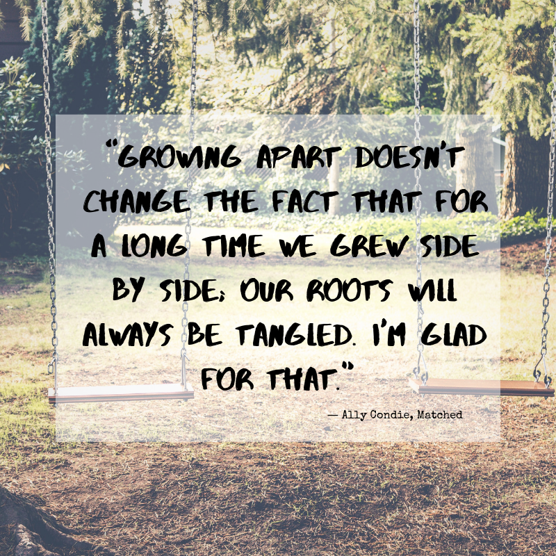 Growing apart doesn't change the fact that for a long time we grew side by side... #quotes