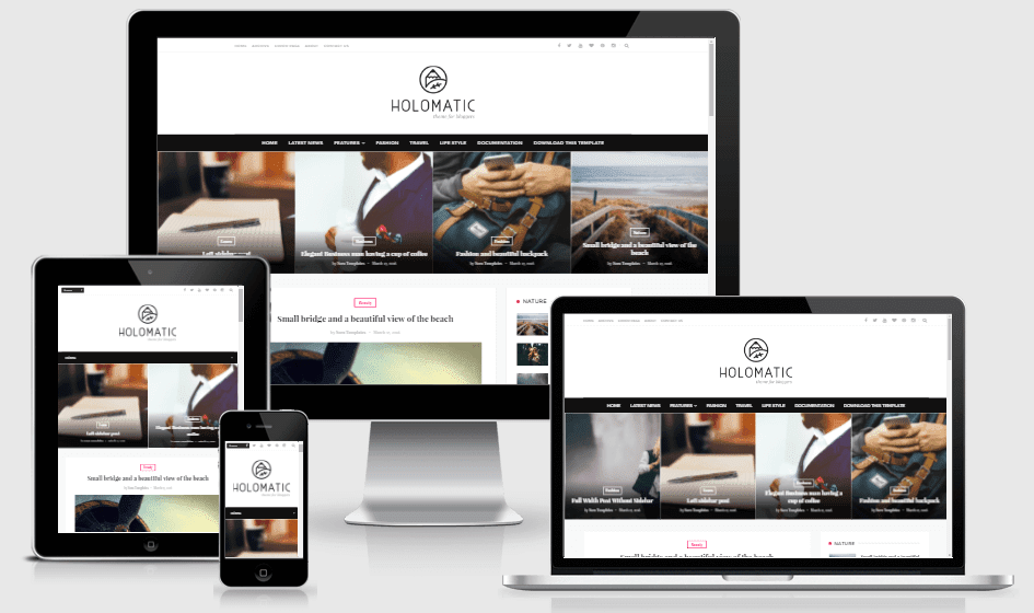 Download Holomatic Responsive Blogger Template