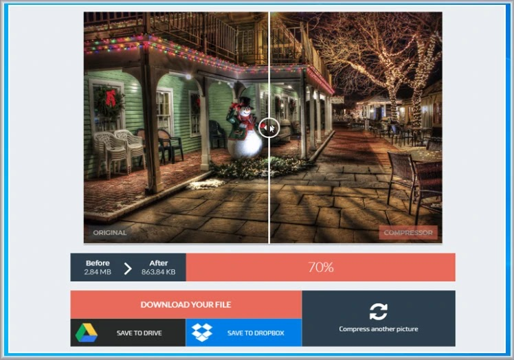 compressor.io : Συμπιέστε  τις φωτογραφίες σας με τις ελάχιστες απώλειες σε ποιότητα