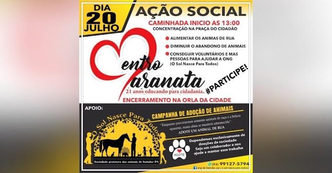 ONG e Instituição de ensino promovem ação social em prol dos animais em Itaituba