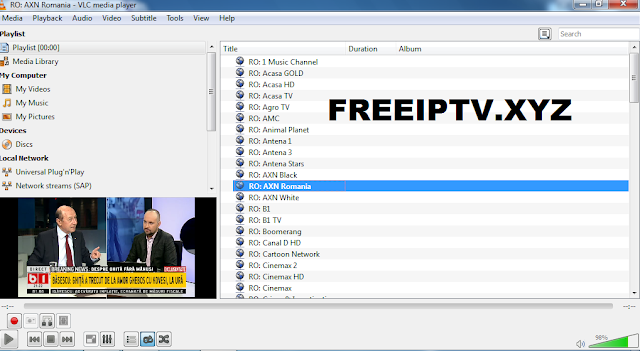 IPTV M3u Romania list Free Channels