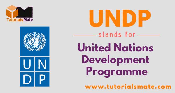 UNDP Full Form