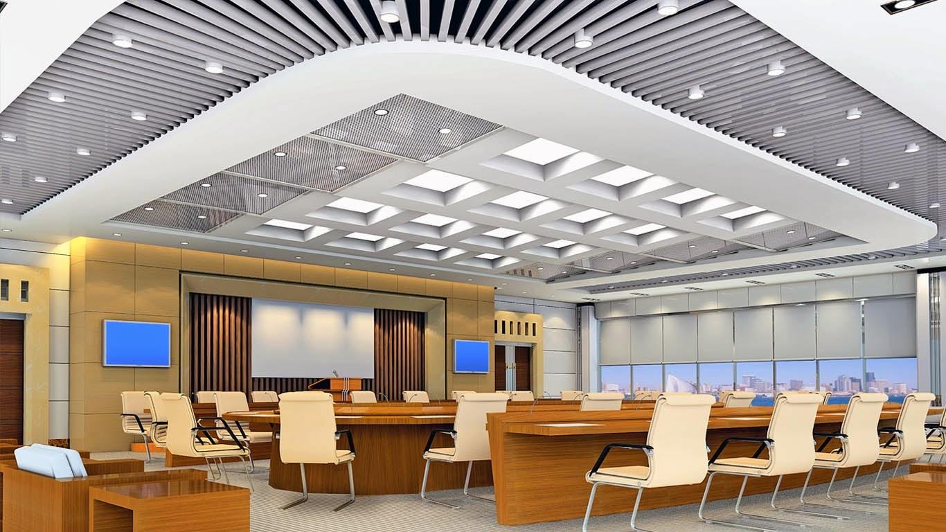 10 Mẫu thạch cao văn phòng đẹp nhất năm 2014