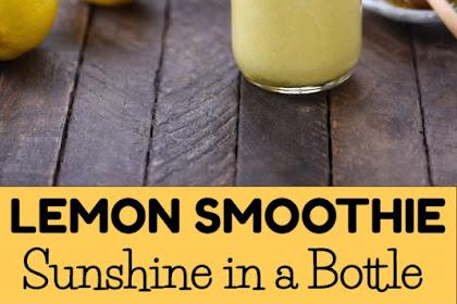 Sunshine in a Bottle Lemon Smoothie