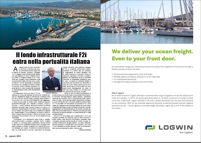 AGOSTO 2019 PAG. 10 - Il fondo infrastrutturale F2i entra nella portualità italiana