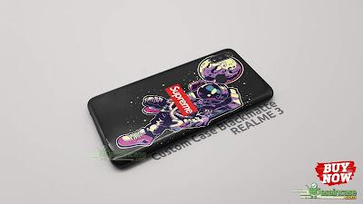 Mockup Custom Case Blackmatte Realme 3 Premium Gubukhijau