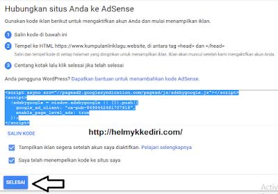 Cara mendaftarkan blog kegoogle adsense 2