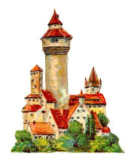 castle image vintage german illustration digital clipart