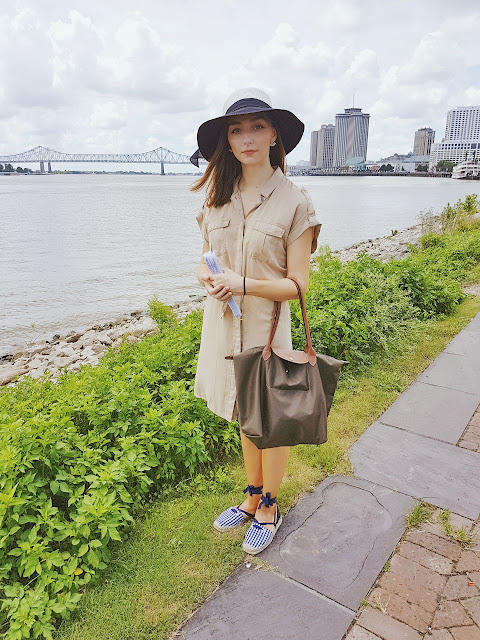 New Orleans, fashion, style, street style, H&M, Zara, sun hat, long champ, designer, summer