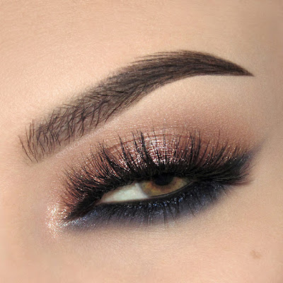 cat eye for hooded lids nars brow defining cream esqido lashes eotd rose gold navy blue