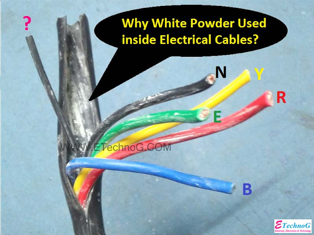 white powder electrical cable