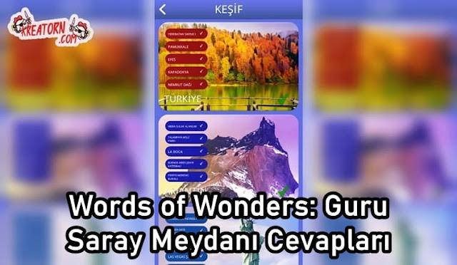 Words of Wonders: Guru Saray Meydanı Cevapları