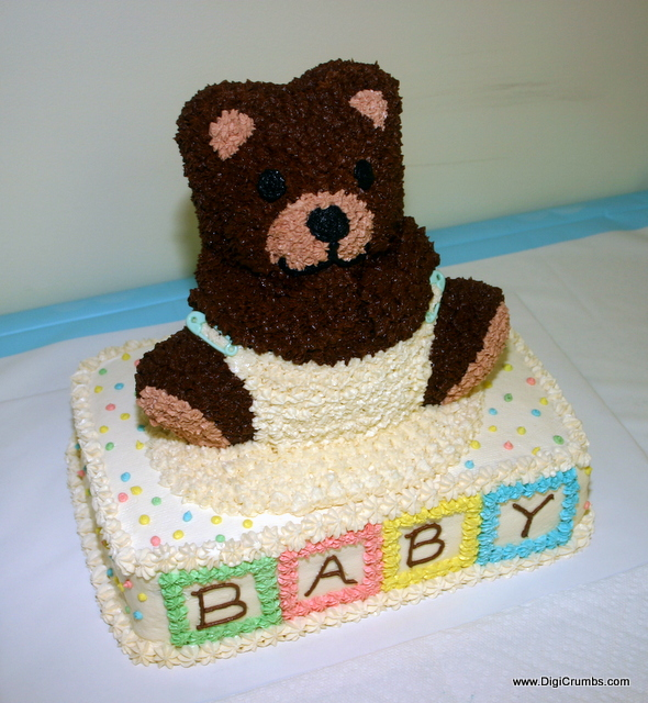 It Was A Beary Cute Baby Shower Cake To Celebrate The Birth Of Our First And Im Hoping Get More Mileage Out This 3D Bear Pan For Lots