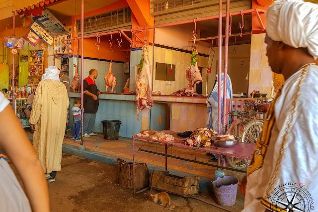 pollería en mercado de Rissani