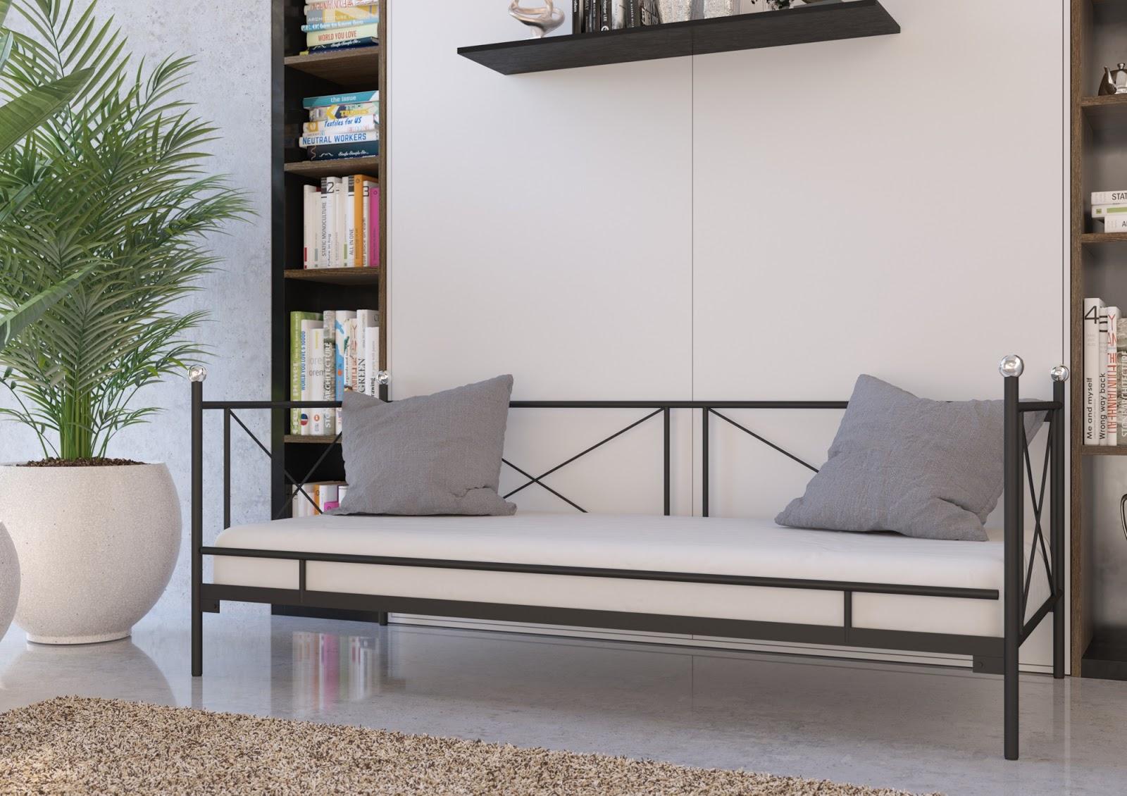 Łóżko metalowe sofa wzór 22