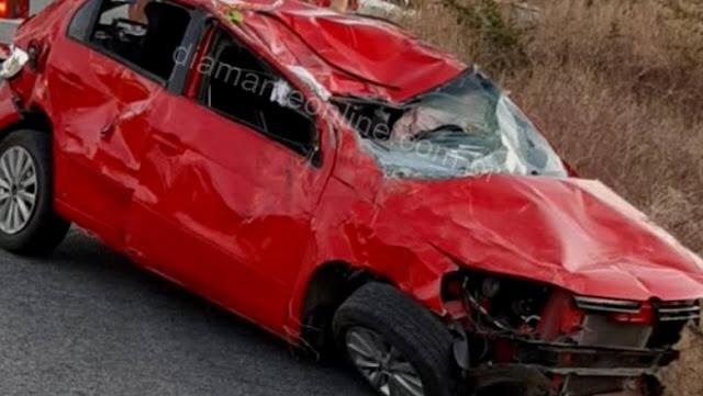 Mãe e filha de cinco meses morrem em grave acidente no Sertão