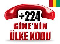 +224 Gine ülke telefon kodu