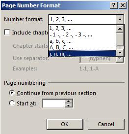 5. kotak dialog Page Number Format