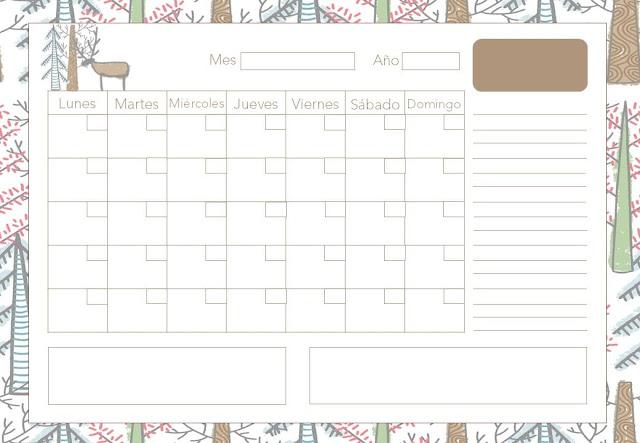 Calendario mensual otoño 2020 gratis