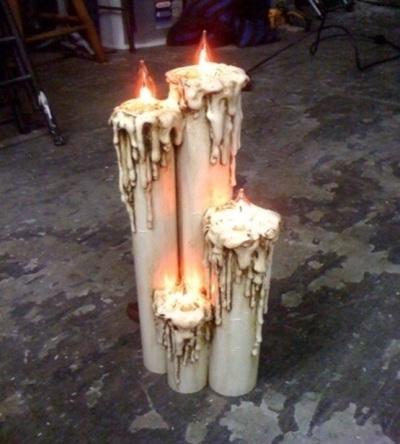 Lilin flicker dari pipa PVC (paralon)