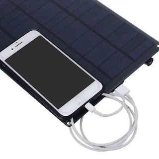 Solar Cell Charger 12V 25W Output Untuk Mobil Handphone Baterai Keperluan Outdoor