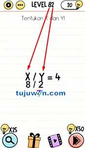 Jawaban level 82 Tentukan X dan Y! Brain test