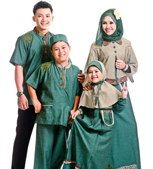 model baju sarimbit ayah ibu anak