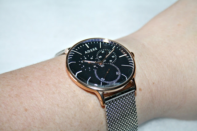 ADEXE THEY - Grande Silver & Blue Watch