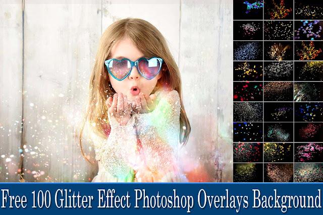 100 Glitter Photoshop Overlays