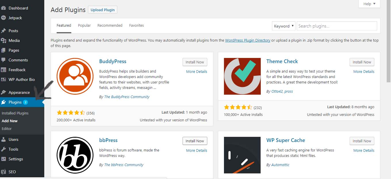 Plugins - How to start a blog