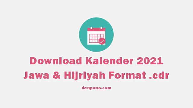 Download Kalender 2021 CDR dan PDF Gratis