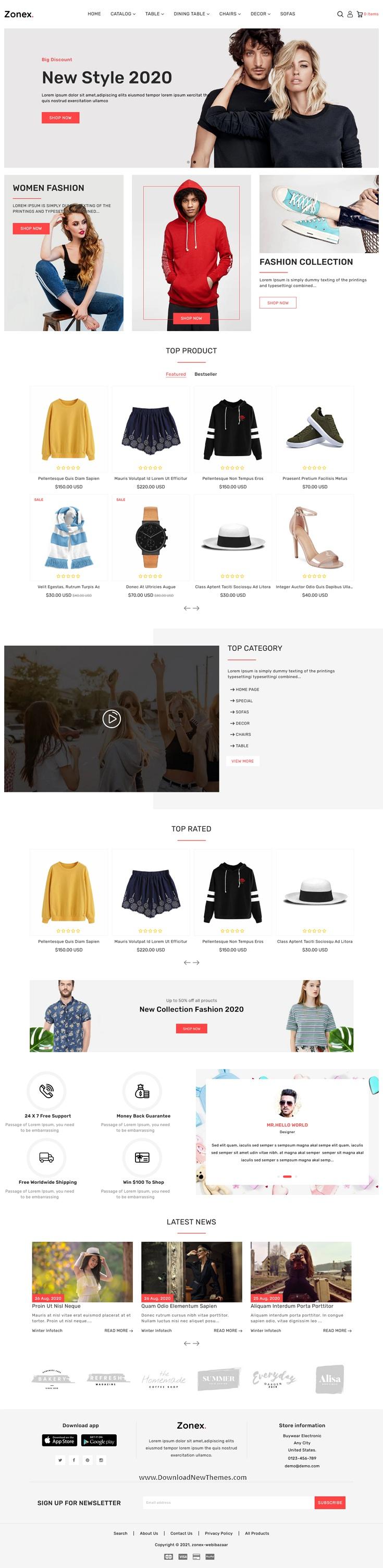 Multipurpose E-commerce Shopify Template