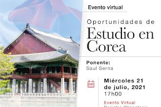 Oportunidades de Estudio Corea - Charla Informativa