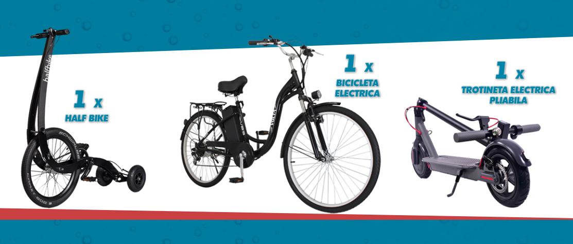 Concurs DOZADECOOLER: Castiga o bicicleta electrica, o trotineta electrica sau un half bike - ursus - castiga.net