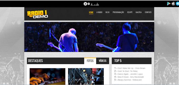 Site Administrável Grátis ( Web Rádio )