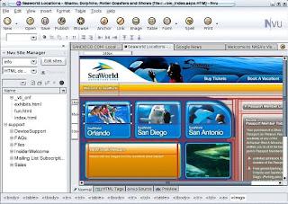 Download Nvu Free Website Editor