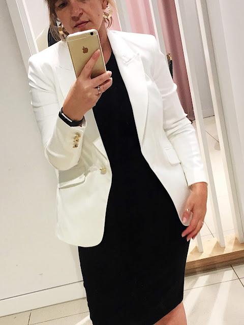 white blazer marks and spencer