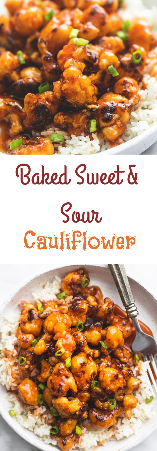 BAKED SWEET & SOUR CAULIFLOWER #deliciousrecipe #veganmeal