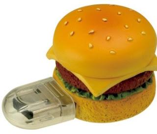 Memoria flash usb muy creativa en forma de hamburguesa