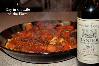 Beef Daube Provencal with a Bandol Rouge
