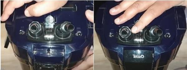 Close the lid & insert valve connectors