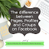 Social Media for Writers: The difference between Pages, Profiles and Groups on Facebook