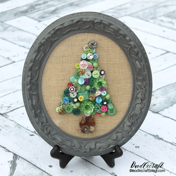 Vintage Button Tree