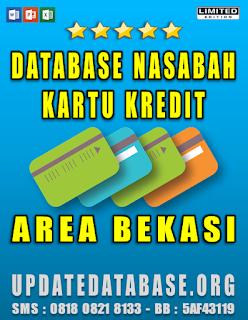 Jual Database Nasabah Kartu Kredit Bekasi