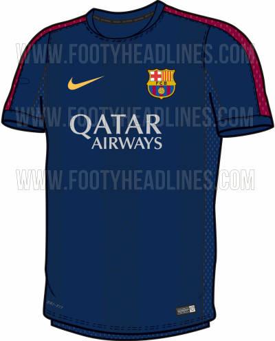 ee952aa8143 FC Barcelona 2014-15 Pink Training Shirt Leaked - Footy Headlines