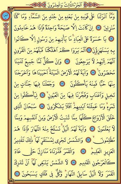 Yasin Suresi Arapça 3. Sayfa